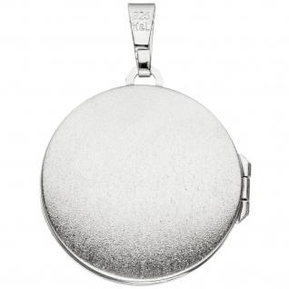 Medaillon Anhänger Baum des Lebens Weltenbaum rund 925 Silber mit Kette 50 cm - Vorschau 3