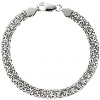 Armband 925 Sterling Silber rhodiniert 19 cm Silberarmband Karabiner - Vorschau 2