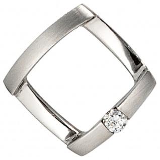 Anhänger 950 Platin matt 1 Diamant Brillant 0, 03ct. Platinanhänger