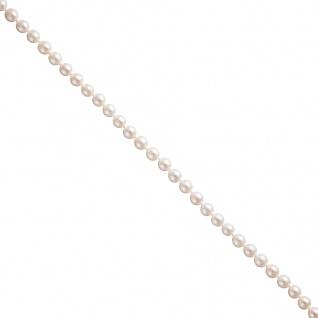 Akoya Perlen Schnur weiß leicht barock Durchmesser ca. 6-6, 5 mm ohne Schließe