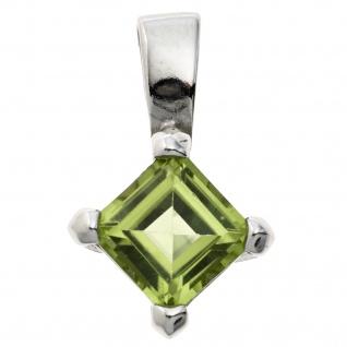 Anhänger 925 Sterling Silber rhodiniert 1 Peridot grün - Vorschau
