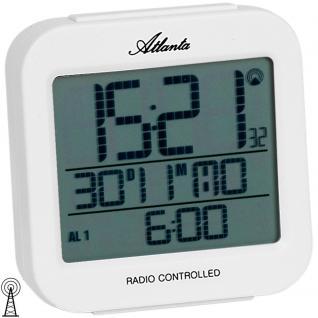 Atlanta 1809/0 Wecker Funk digital weiß Licht Datum Thermometer Digitalwecker - Vorschau 2
