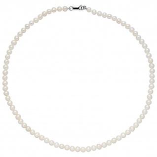 Kette mit Süßwasser Perlen und 925 Sterling Silber 50 cm Perlenkette