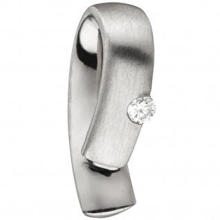 Anhänger 950 Platin teil matt 1 Diamant Brillant 0, 06ct. Platinanhänger
