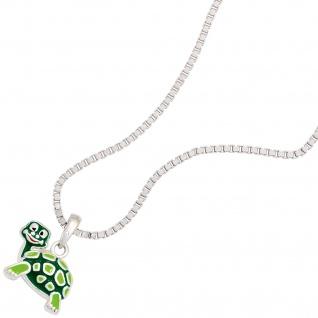 Kinder Anhänger Schildkröte grün 925 Sterling Silber rhodiniert Kinderanhänger - Vorschau 3