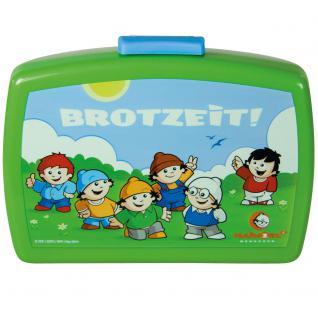 MAINZELMÄNNCHEN Kinder Brotdose mit Einsatz aus Kunststoff grün