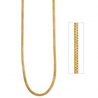 Strumpfkette 585 Gold Gelbgold 2, 3 mm 42 cm Kette Halskette Goldkette Karabiner
