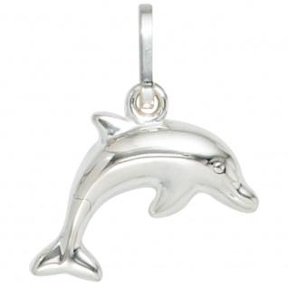 Kinder Anhänger Delfin 925 Sterling Silber Delfinanhänger Kinderanhänger
