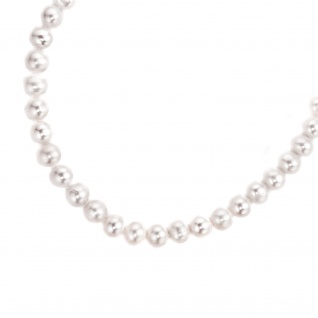 Collier Perlenkette Süßwasser Perlen 45 cm Halskette Kette