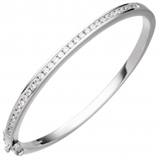 Armreif Armband 925 Sterling Silber mit Zirkonia Silberarmband Silberarmreif