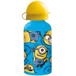 MINIONS Kinder Trinkflasche aus Aluminium blau gelb 400 ml