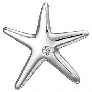 Anhänger Seestern 925 Sterling Silber 1 Zirkonia Silberanhänger