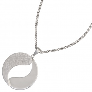 Anhänger rund 925 Sterling Silber rhodiniert mattiert - Vorschau 3
