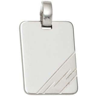 Anhänger Gravur Gravurplatte 925 Sterling Silber rhodiniert