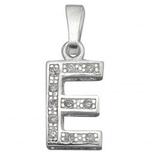 Anhänger Buchstabe E 925 Silber Buchstabenanhänger