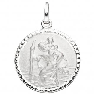 Anhänger Schutzpatron Christopherus 925 Sterling Silber mit Kette 42 cm - Vorschau 3