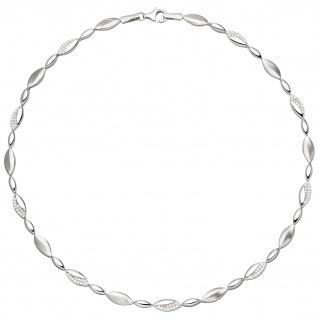 Collier Halskette 925 Silber 108 Zirkonia 45 cm Kette Silberkette