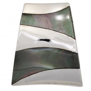 Anhänger 925 Sterling Silber rhodiniert mit Perlmutt-Einlagen