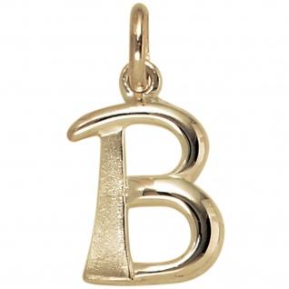 Anhänger Buchstabe B 375 Gold Gelbgold Buchstabenanhänger