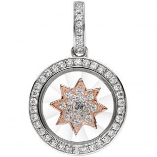 Anhänger Stern I LOVE YOU 925 Sterling Silber bicolor vergoldet mit Zirkonia