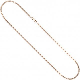 Ankerkette 925 Silber rotgold vergoldet 80 cm Kette Halskette Karabiner - Vorschau 2