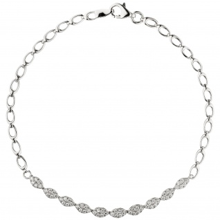 Armband 925 Sterling Silber 60 Zirkonia 19 cm Silberarmband
