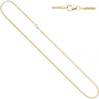 Bingokette 585 Gelbgold 1, 2 mm 45 cm Gold Kette Halskette Goldkette Karabiner
