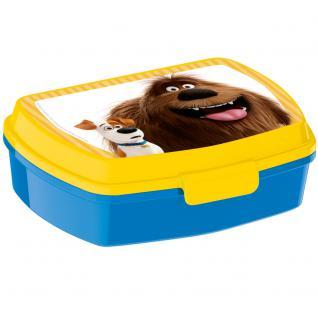 THE SECRET LIFE OF PETS Kinder Brotdose aus Kunststoff mit Aufsatz gelb blau