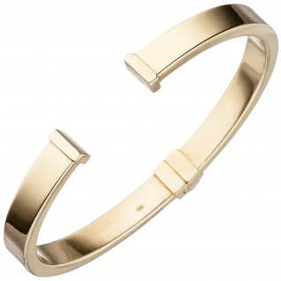 Armspange / offener Armreif 585 Gold Gelbgold Armband Goldarmreif Goldarmband