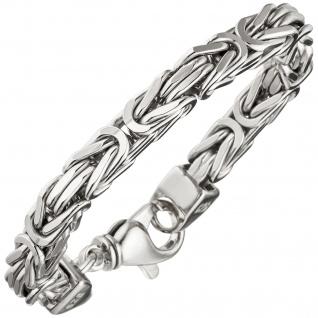 Königsarmband 925 Sterling Silber 23 cm Armband Silberarmband Karabiner