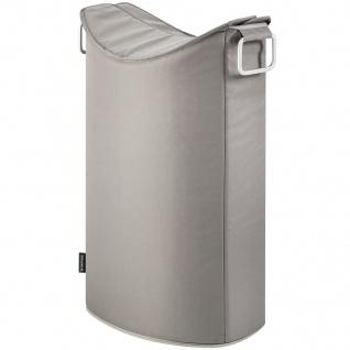 Blomus Wäschesammler FRISCO, Aluminium mit Kunstfaser kombiniert, taupe