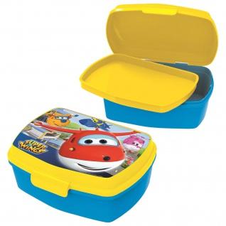 SUPERWINGS Kinder Brotdose mit Einsatz aus Kunststoff blau gelb