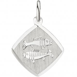 Anhänger Sternzeichen Fische 925 Sterling Silber matt Sternzeichenanhänger