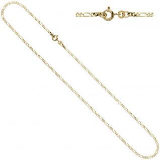 Figarokette 333 Gelbgold 2, 3 mm 45 cm Gold Kette Halskette Goldkette Federring