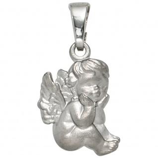 Kinder Anhänger Engel Schutzengel 925 Sterling Silber mattiert Kinderanhänger