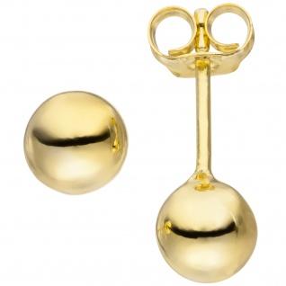 Ohrstecker Kugel 6 mm 925 Silber gold vergoldet Ohrringe Kugelohrstecker