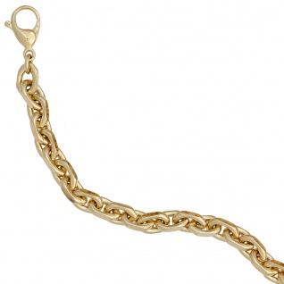 Ankerarmband 585 Gold Gelbgold 21 cm Armband Goldarmband Karabiner - Vorschau 2