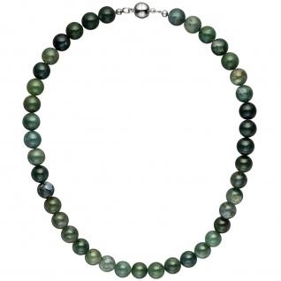 Halskette Kette Moosachat 45 cm Moosachatkette Steinkette Edelsteinkette
