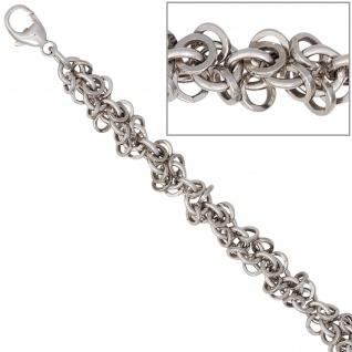 Fußkettchen Fußkette 925 Sterling Silber rhodiniert 26 cm Karabiner