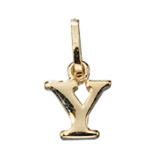 Anhänger Buchstabe Y 333 Gold Gelbgold Buchstabenanhänger