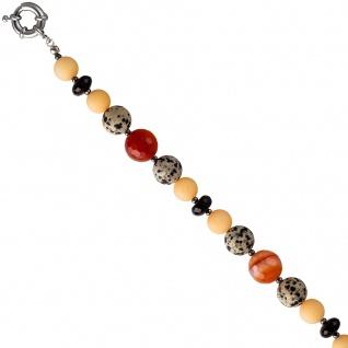 Collier Edelsteinkette bunt aus verschiedenen Edelsteinen 48 cm Kette