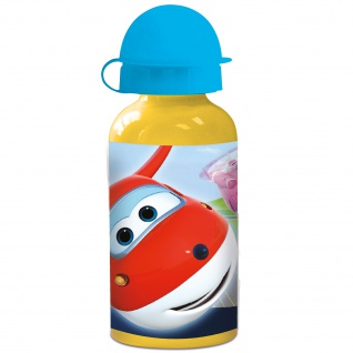 SUPERWINGS Kinder Trinkflasche aus Aluminium 400 ml
