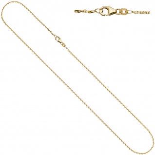 Ankerkette 585 Gelbgold diamantiert 1, 2 mm 42 cm Gold Kette Halskette Goldkette
