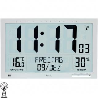 AMS 5888 Wanduhr Tischuhr Funk Funkwanduhr digital Datum Thermometer Wecker