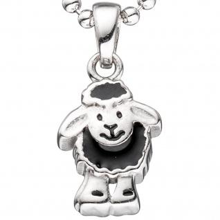 Kinder Anhänger schwarzes Schaf 925 Sterling Silber rhodiniert Kinderanhänger - Vorschau 2