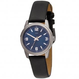 JOBO Damen Armbanduhr Quarz Analog Titan Lederband schwarz Damenuhr - Vorschau 1