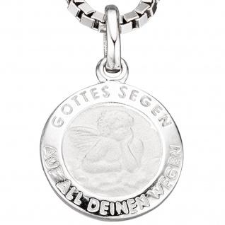Kinder Anhänger Engel Schutzengel 925 Sterling Silber mattiert Kinderanhänger - Vorschau 2