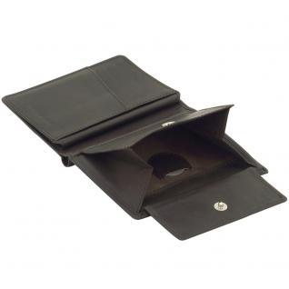 Friedrich Lederwaren Geldbörse Leder braun dunkelbraun RFID Schutz - Vorschau 3