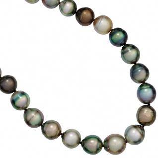 Collier Perlenkette Tahiti Perlen multicolor bunt 45 cm Halskette Kette