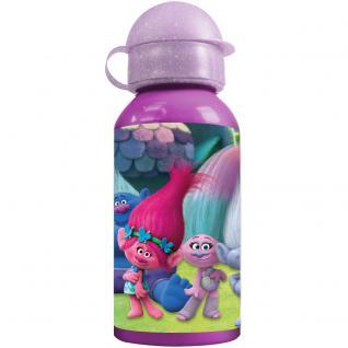 TROLLS Kinder Trinkflasche aus Aluminium lila vilolett 400 ml